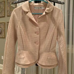 Dior light pink linen blazer